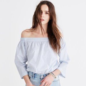 Madewell Off the Shoulder Striped Top